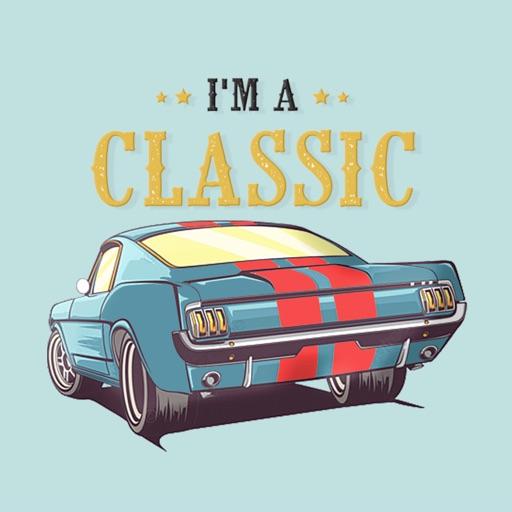 American Vintage Car Stickers