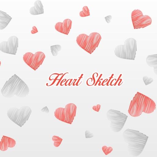 Heart Sketch Emojis