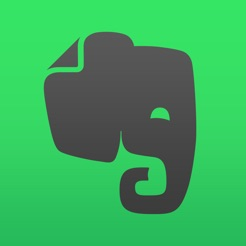 Via Itunes.com [Image description: Evernote app logo, an elephant head against a green backdrop.]