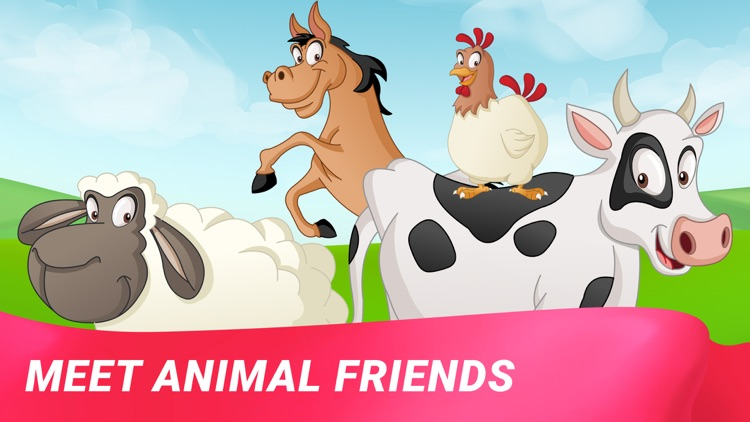 Farm Animals: Toddler Games 3+