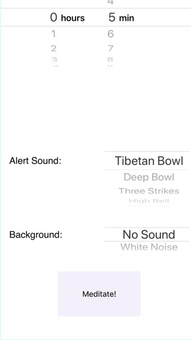 White Noise Meditation Timer screenshot two