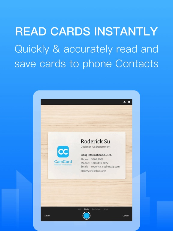 CamCard Screenshots