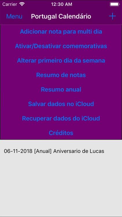 Calendário 2019 Portugal screenshot-3