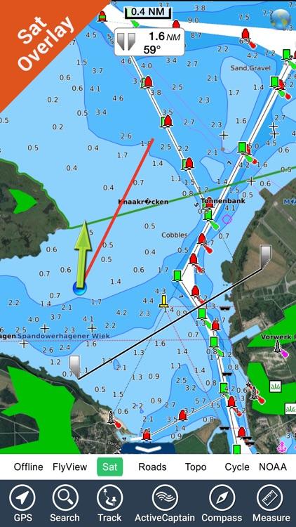 Germany HD GPS Nautical Chart screenshot-3