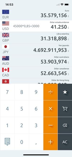 conversor de monedas divisas en app store