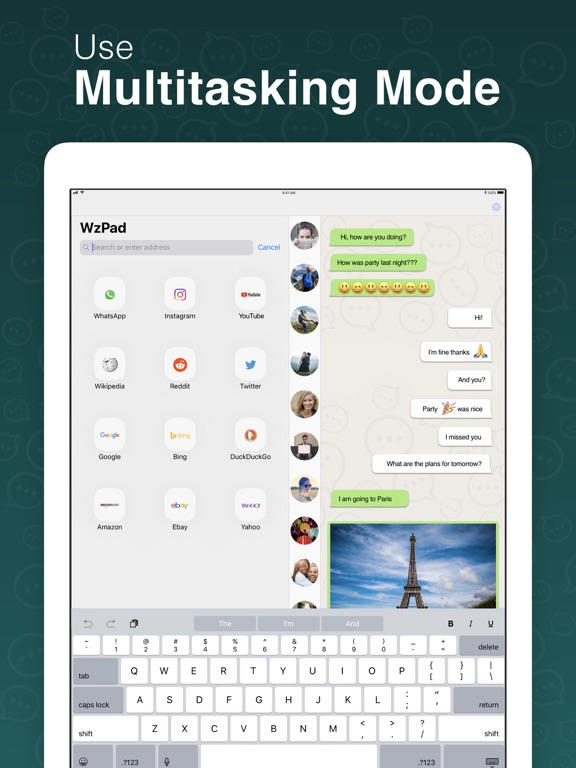 WzPad for WhatsApp for iPad Screenshots