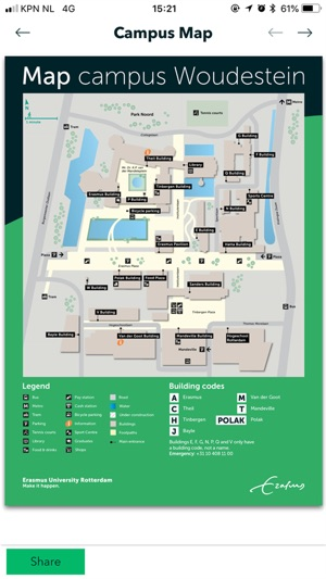 erasmus university campus map Eurekaweek 2018 On The App Store erasmus university campus map