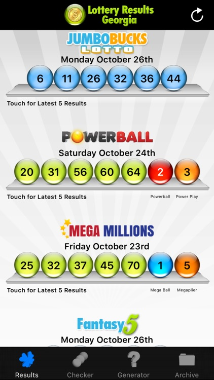 Lottery Results Georgia by The Lottery Company