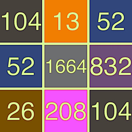 3328 Number Tiles Merge Game
