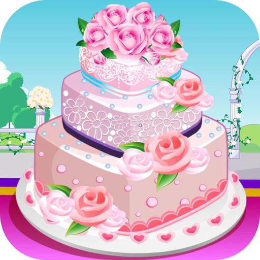 Rose Wedding Cake Cooking Game