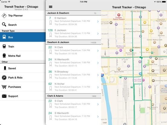 Transit Tracker - Chicago-ipad-1
