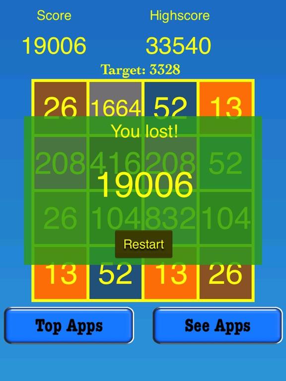 3328 Number Tiles Merge Game screenshot 10