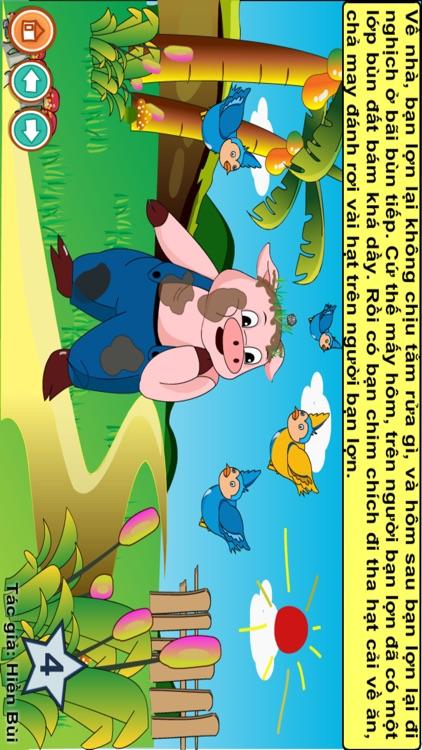 Truyện đọc: Bạn lợn lười tắm screenshot-3
