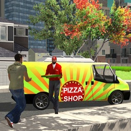 American Pizza Delivery Boy - Ultimate Van Sim 3D