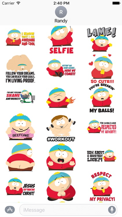 South Park: Cartman Stickers