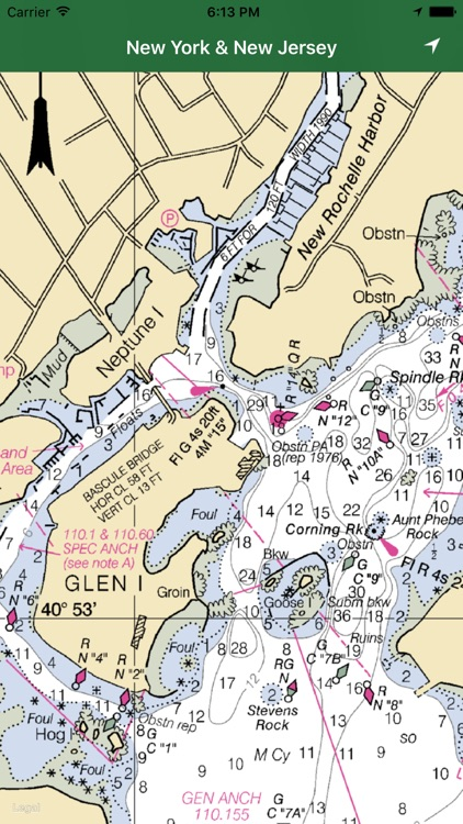 Marine: New York and New Jersey GPS nautical chart