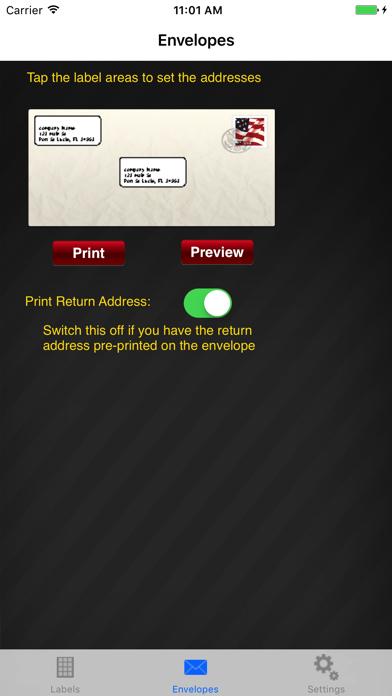 Print Labels review screenshots