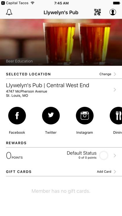 Llywelyn's Pub VIP Rewards