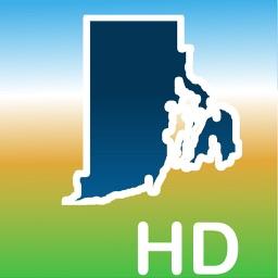 Aqua Map Rhode Island RI Lakes HD- Nautical Charts