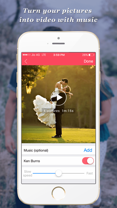 PicsVideo - Memories to awesome music videos screenshot one