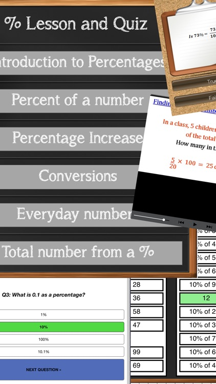 Percentage Calculator & Lesson screenshot-4