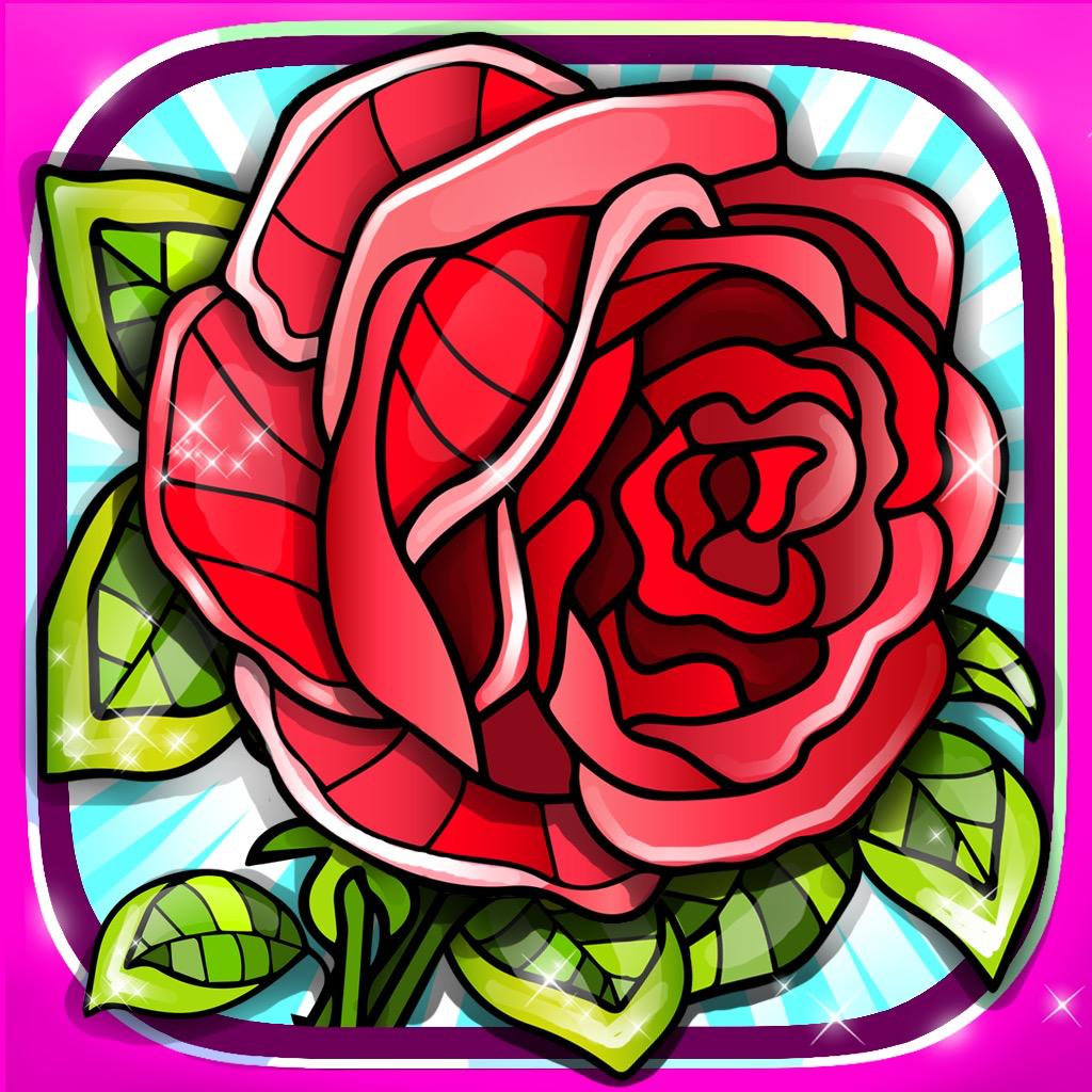 バラ 大人 塗り絵 ぬりえ Iphoneアプリ Applion