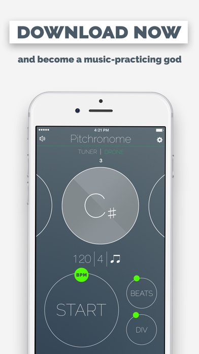 Pitchronome: Tuner + Metronome Screenshots