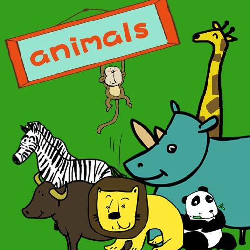 宝宝英语认动物-abc亲子口语早教游戏