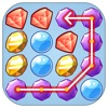 Jewels Pop - one touch drawing 3match game