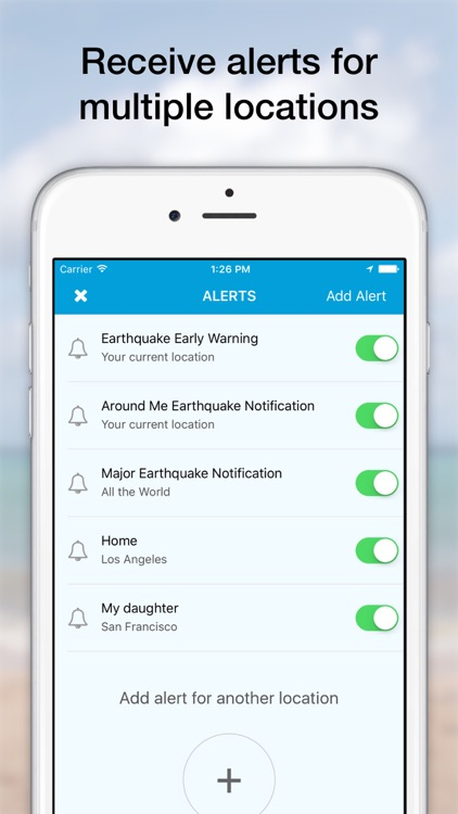 eQuake - Earthquake Alerts