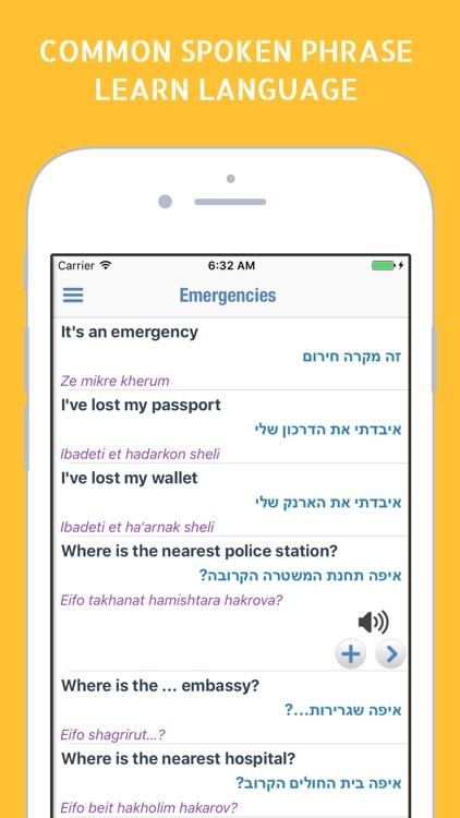 English Hebrew Dictionary Israel Language Book screenshot-3