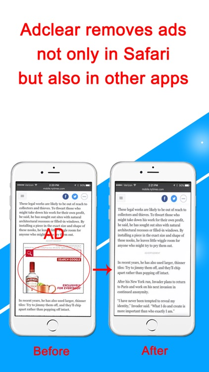 AdClear - Ad Blocker, block ads in apps/browsers screenshot-2