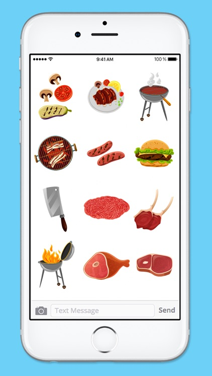 Let's BBQ Barbeque Grilling Sticker Pack screenshot-4