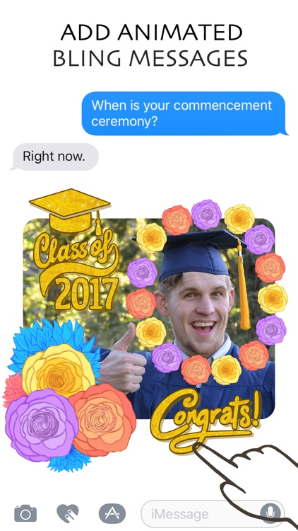 FloralShop: 2017 Graduation & More Flower Stickers