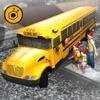 Winter school bus simulator - snow bus parking 3D