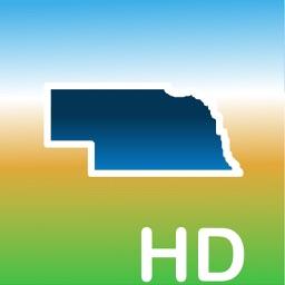 Aqua Map Nebraska NE Lakes HD- GPS Nautical Charts