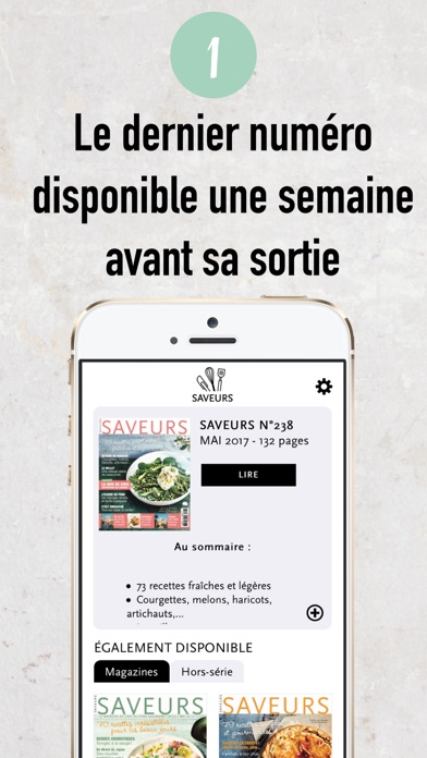 Saveurs Magazine review screenshots