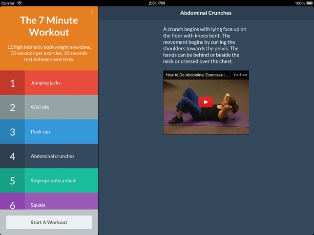 7 Minute Workout Screenshot