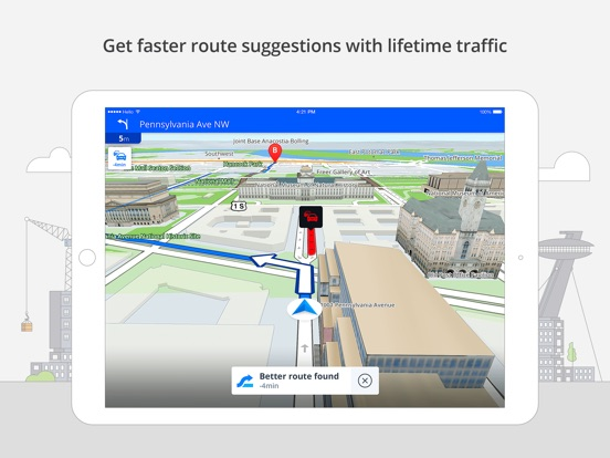 Screenshot #3 for Sygic Brazil: GPS Navigation, Offline Maps