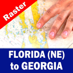 FLORIDA (NE) to GEORGIA – Raster Nautical Charts
