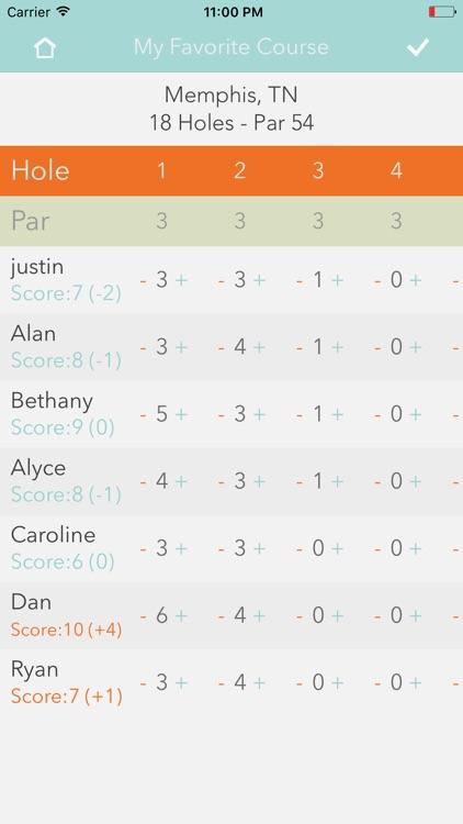 iDisc Golf Scorecard