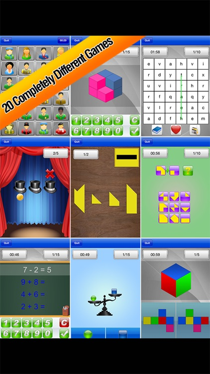 Brain School ™ Word, Puzzle & Logic Games Training screenshot-3