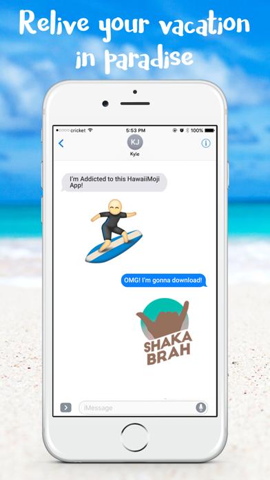 HawaiianMoji - Hawaii Food & Drink Emoji Stickers Screenshot
