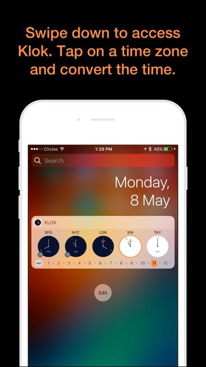 Klok - Time Zone Converter screenshot-0