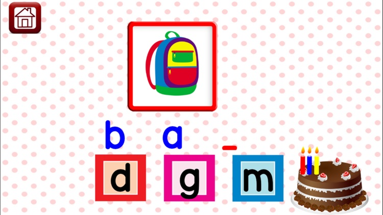 First Phonics CVC words Kindergarten Learning Game