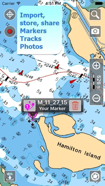 Aqua Map: Canada - GPS Nautical Charts   HD screenshot-3