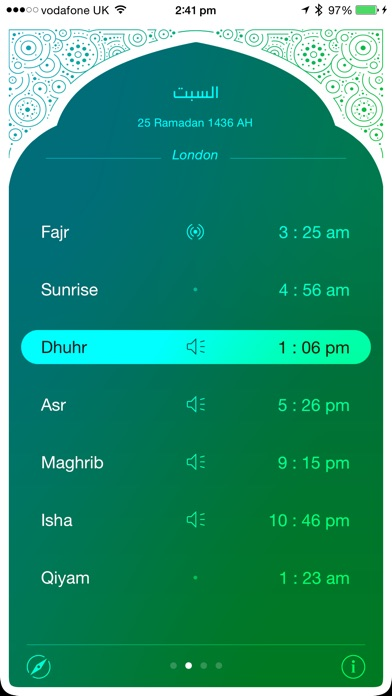 iPray: Prayer Times & Qibla Compass Screenshot 2