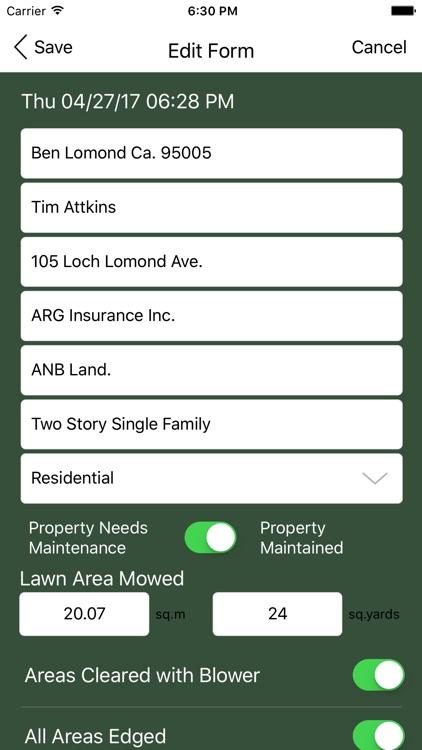 Landscape Maintenance App