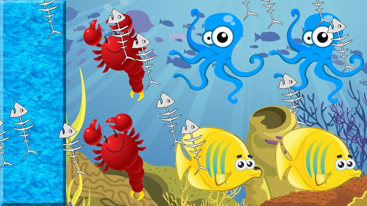 Fishes Match Game for Toddlers and Kids