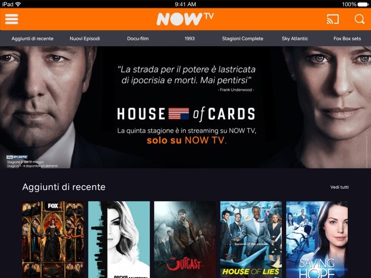 NOW TV Temporary per iPad